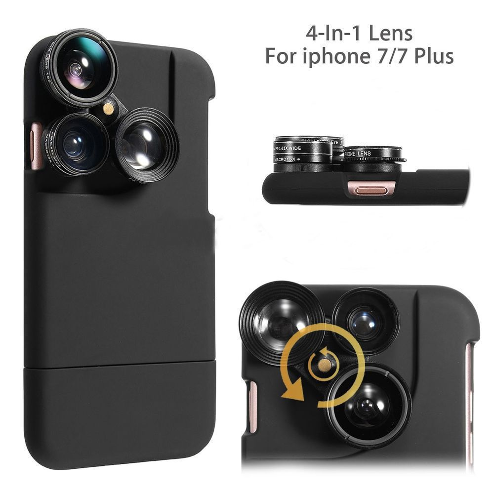 sports shoes 3feb5 5b721 Details about For iPhone 8 6 7 Plus Case 4 in1 Camera Lens Kit ...
