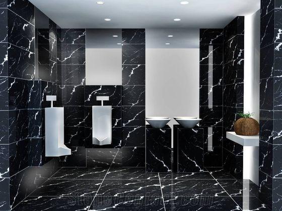 Schwarze Marmor Badezimmer