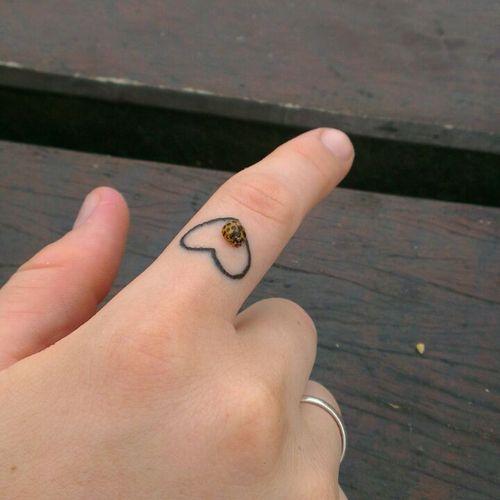 Heart tattoo ft ladybug tattoos pinterest for Ladybug heart tattoos