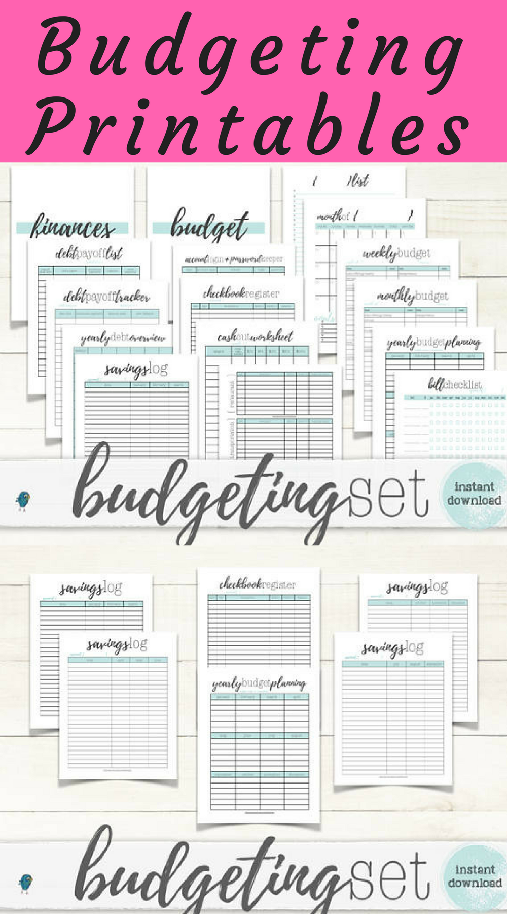 Complete finance printable set to keep you organized. | Personal ...