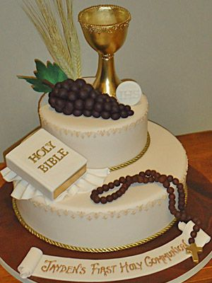 Bible 1st Holy Communion girls cake - Google Search