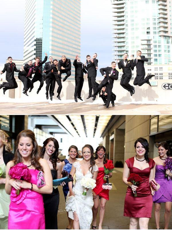 I M Really Diggin The Rainbow Wedding Parties