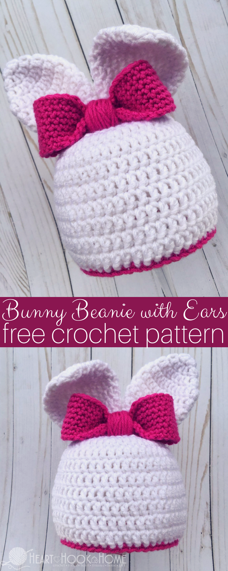 Bunny Beanie with Ears Free Crochet Pattern for Easter | süßer Hase ...