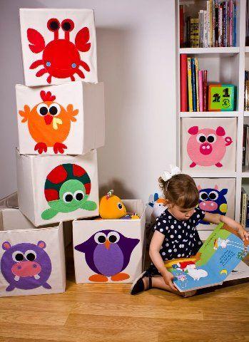Cajas plegables de almacenaje para juguetes de keeddo decoraci n infantil mamidecora - Caja almacenaje infantil ...