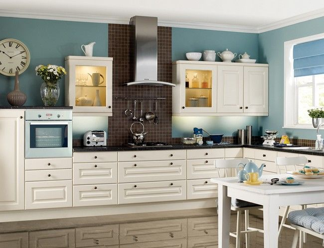 Kitchen Paint Colors With White Washed Cabinets Jpg 650 497 Kitchen Colors Painted Kitchen Cabinets Colors White Kitchen Paint