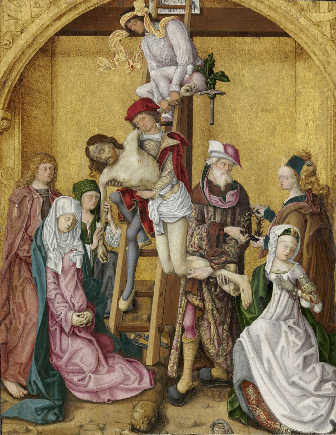 The Descent From The Cross El Descendimiento De La Cruz C 1495 1510 Workshop Of The Master Of The Saint Bartholomew Altar Based On The Painting By The