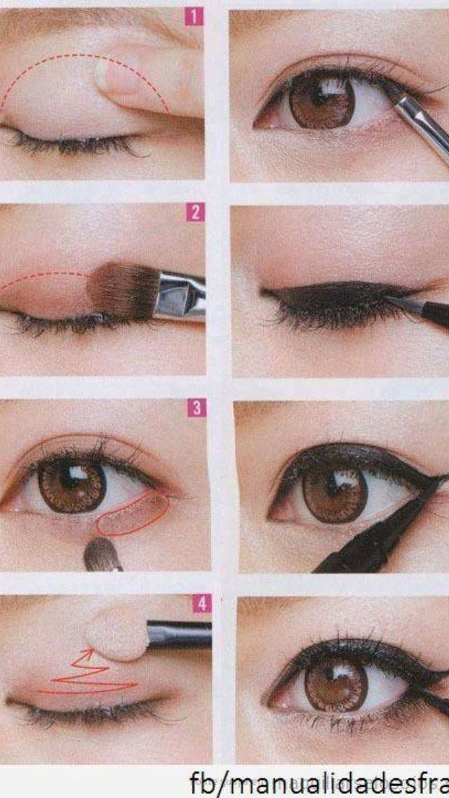 5 minute eye makeup for Asian eyes.