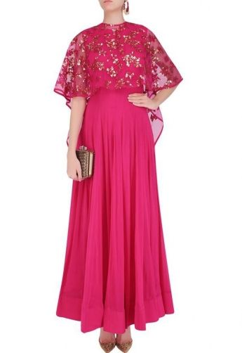 Image Result For Poncho With Anarkali Suit Poncho Dress Ideas