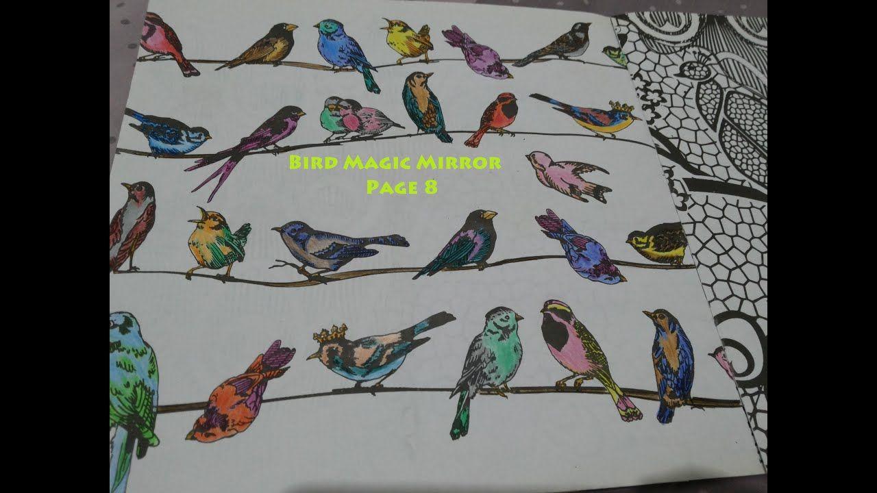 Adult Coloring Bird Magic Mirror Page 8 Di 2020