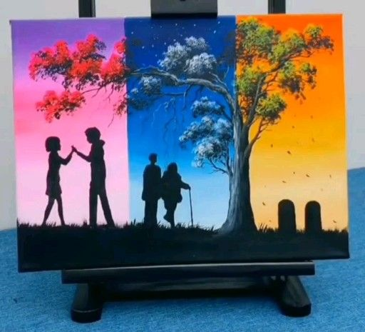 2020 Easy Way To Make a Canvas Painting For Beginners | Painting Ideas