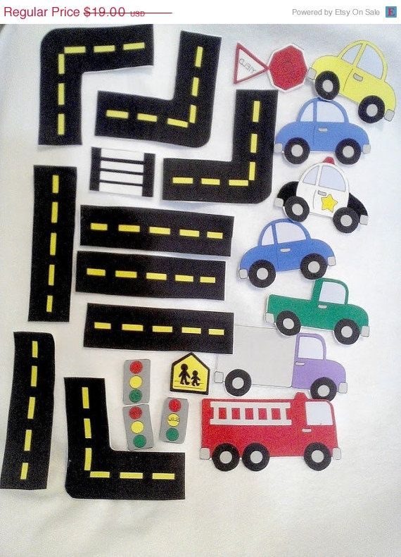 Super easy to make just the roads so the kids can trace with their cars. Tucker and Daniel would LOVE!