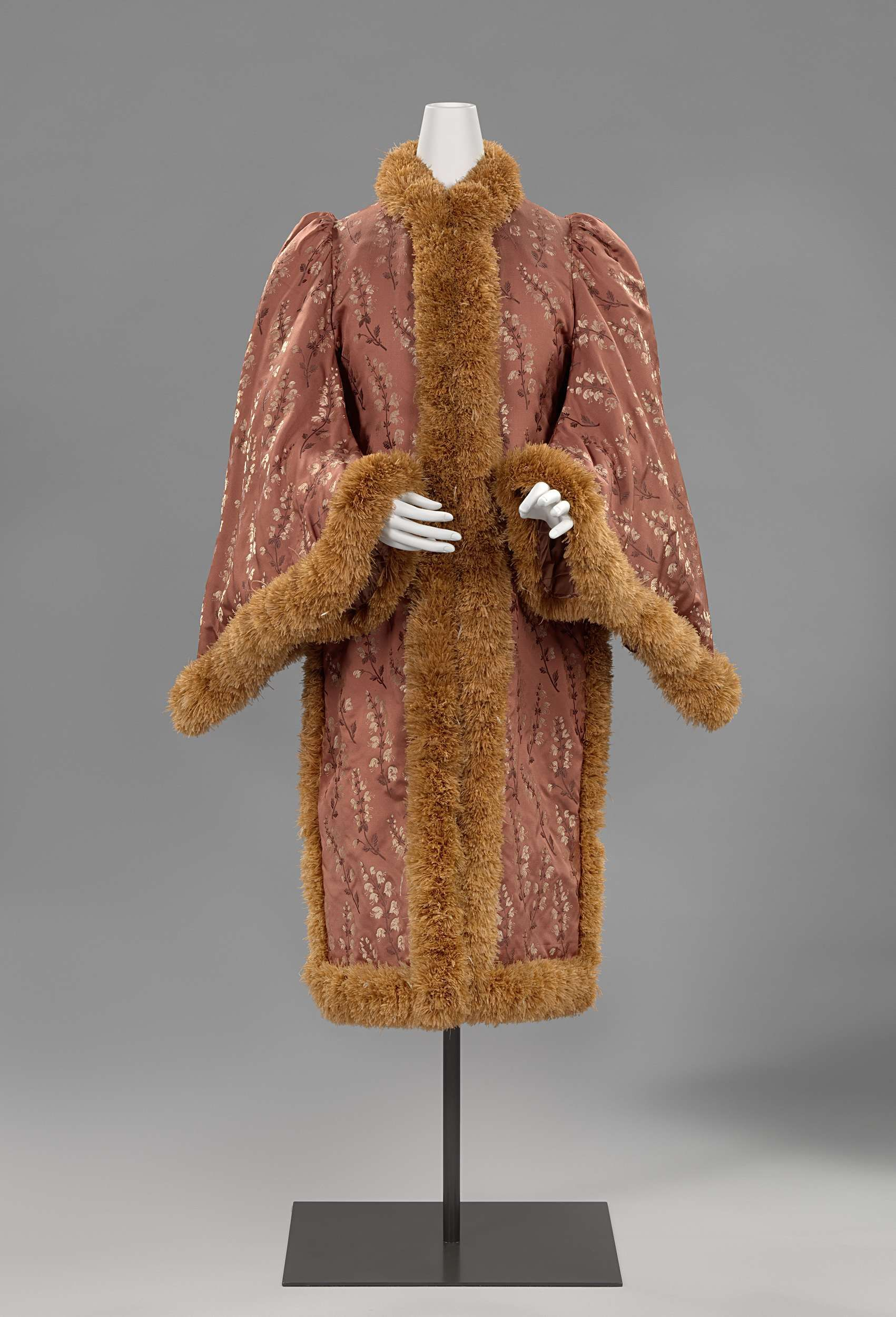 1880-1885, France - Dolman by Madame Drugeon - Silk, ostrich feathers