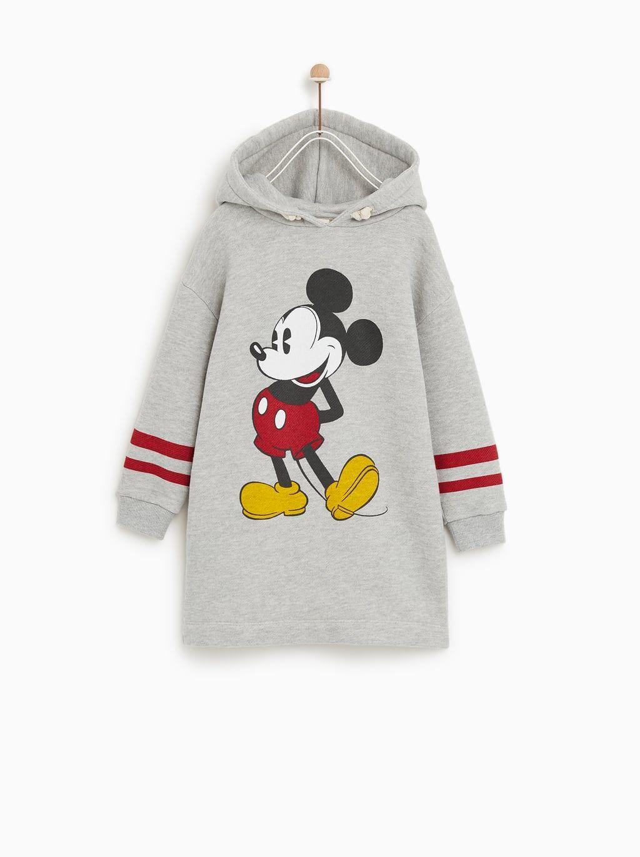 Disney Plush Jersey Dress Cute Lazy Outfits Zara Kids Girls Cute Sweatshirts