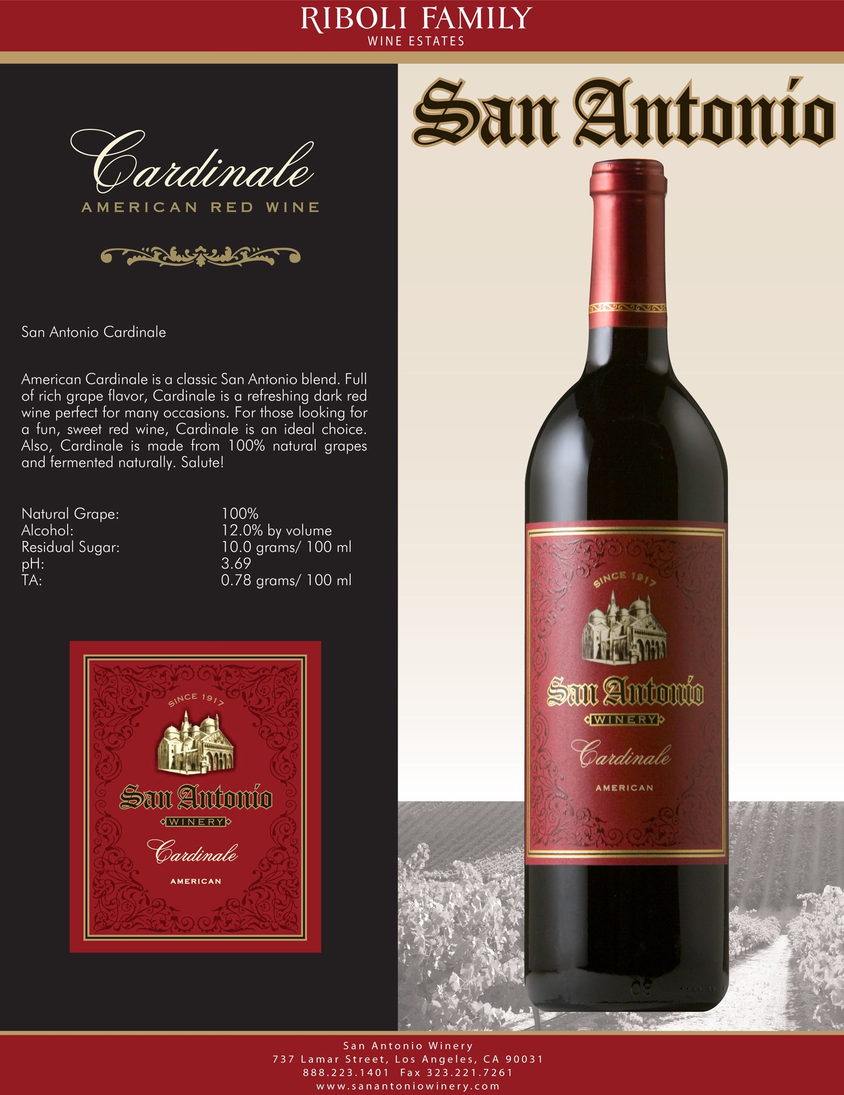 San antonio cardinale american red wine the sweetest red for Wine painting san antonio