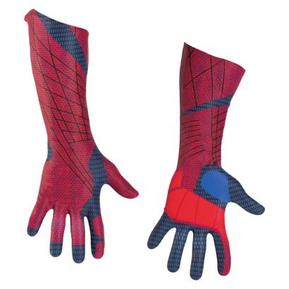 Amazing Spider-Man Movie Gloves Fancy Dress Up Halloween Adult Costume Accessory
