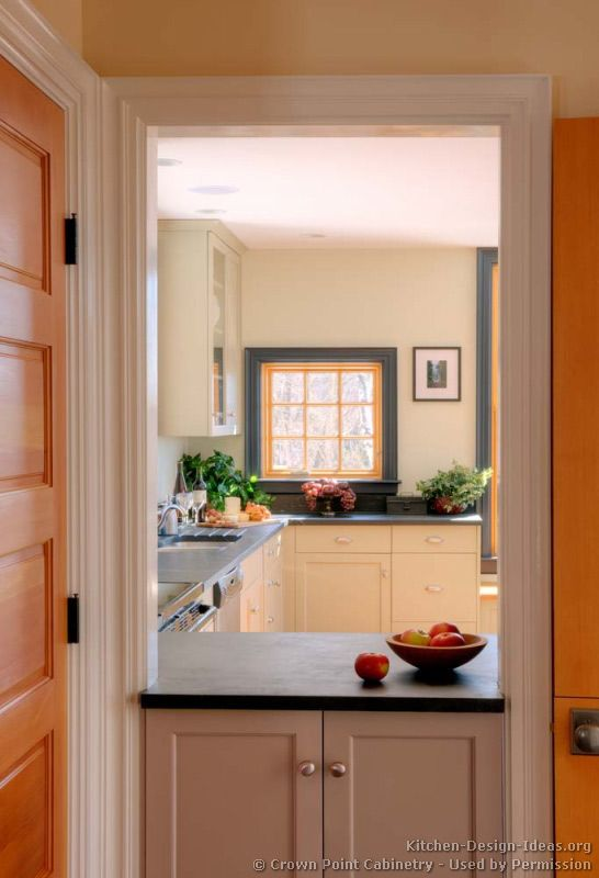 Doorway converted into a passthrough window... Kitchen by ...