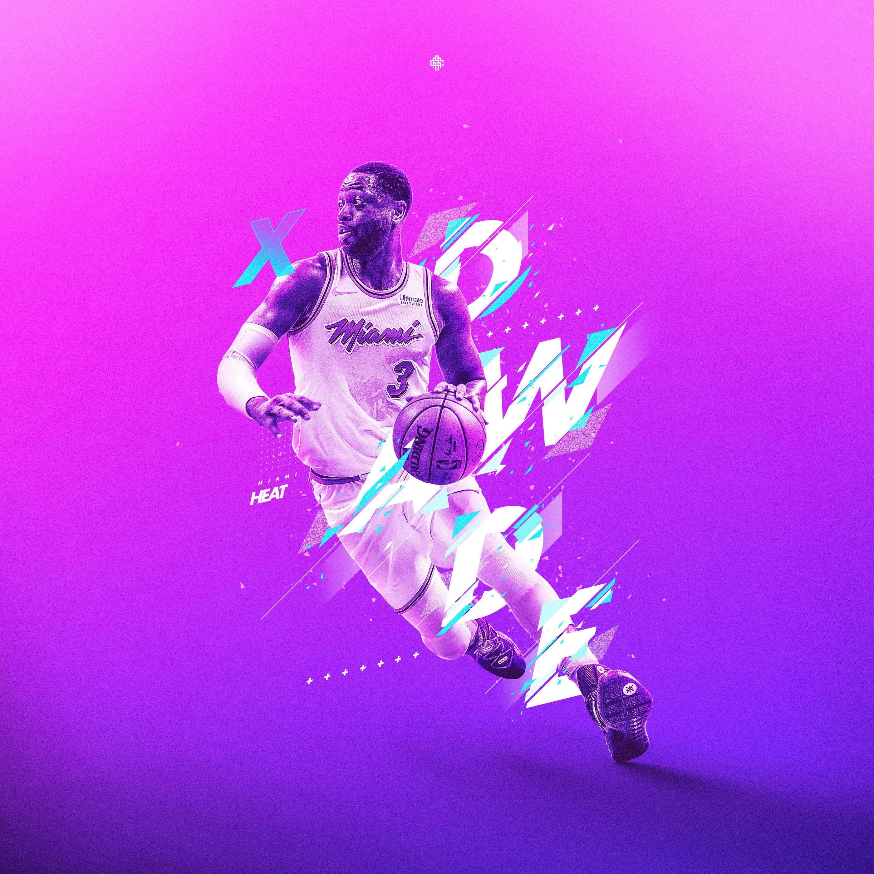 Dwyane Wade Retro On Behance Nba Wallpapers Dwyane Wade Sports Graphic Design