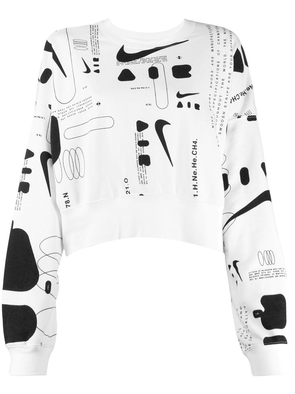 Nike Cropped Printed Sweater Farfetch Printed Sweater Sweaters Nike Sweater [ 1334 x 1000 Pixel ]