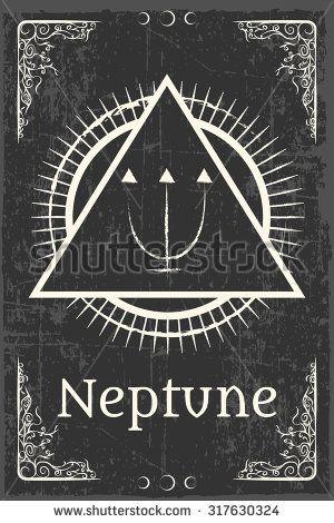 alchemy magic symbol, illustration in vector format