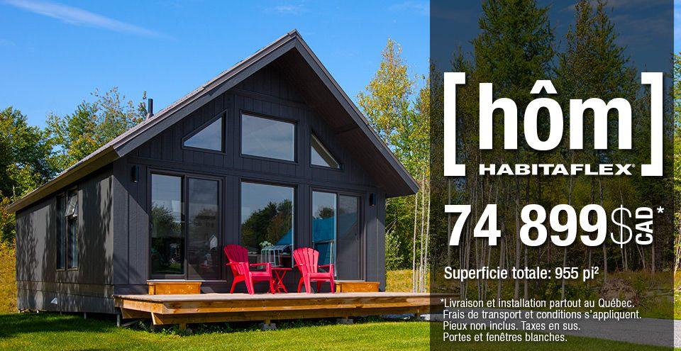 Le chalet h m par habitaflex joro pinterest chalet maison et chalet pr fabriqu for Petit chalet prefabrique