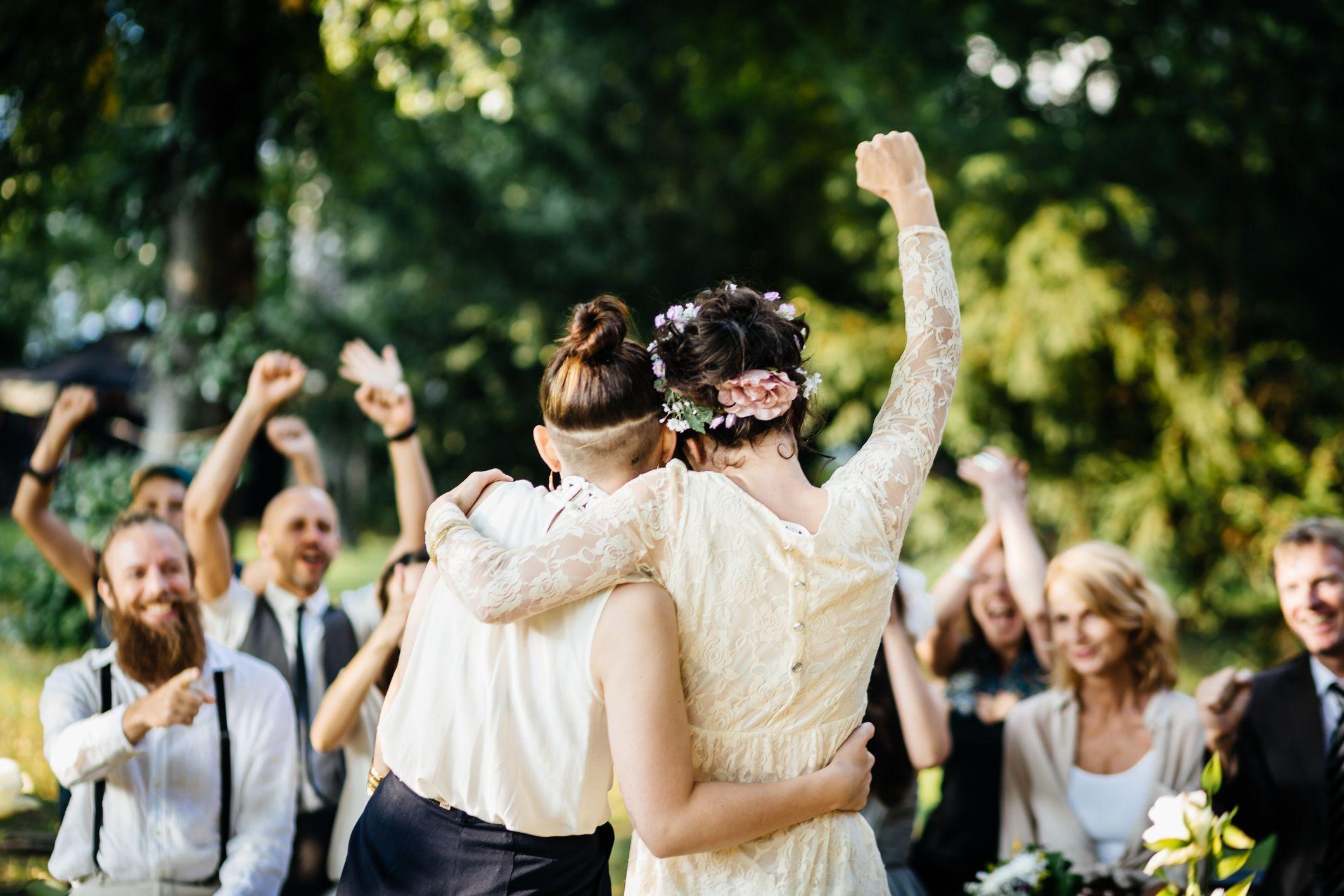 Lesbian wedding photo album