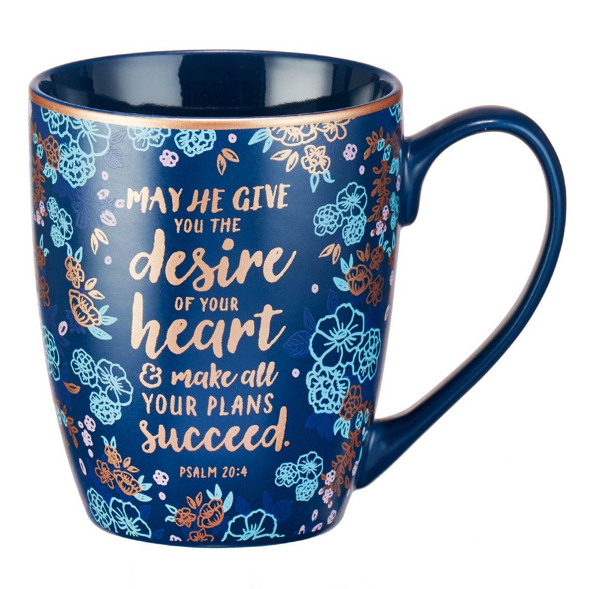 Desire Of Your Heart Coffee Mug Psalm 20 4 Mugs Psalm 20 Gifts In A Mug