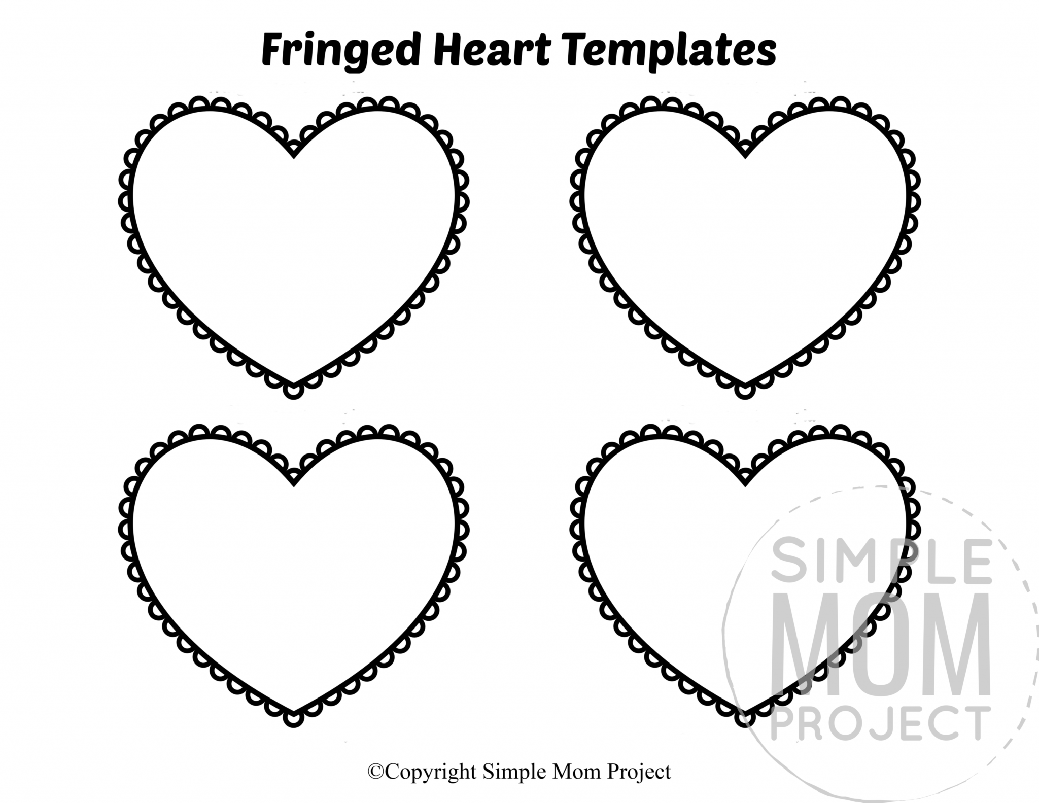 Free Printable Small Heart Shape Templates Simple Mom
