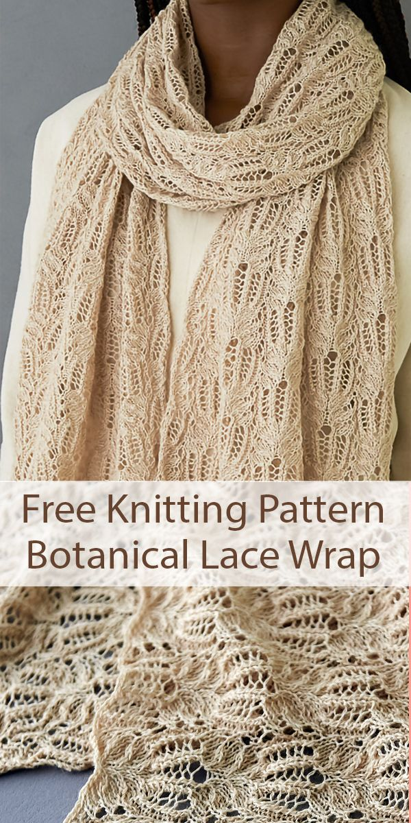 Free Knitting Pattern for Botanical Lace Wrap Frost Flowers Shawl