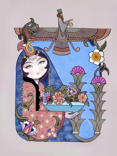 نقاش سنتی شرقی در جدول