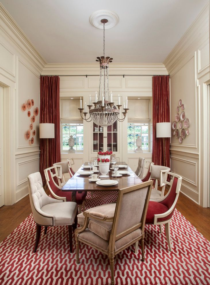 Coolly Modern Formal Dining Room Sets To Consider Getting: #赤 #インテリア #インテリアコーディネート #カラーコーディネート #ダイニング #red #interior