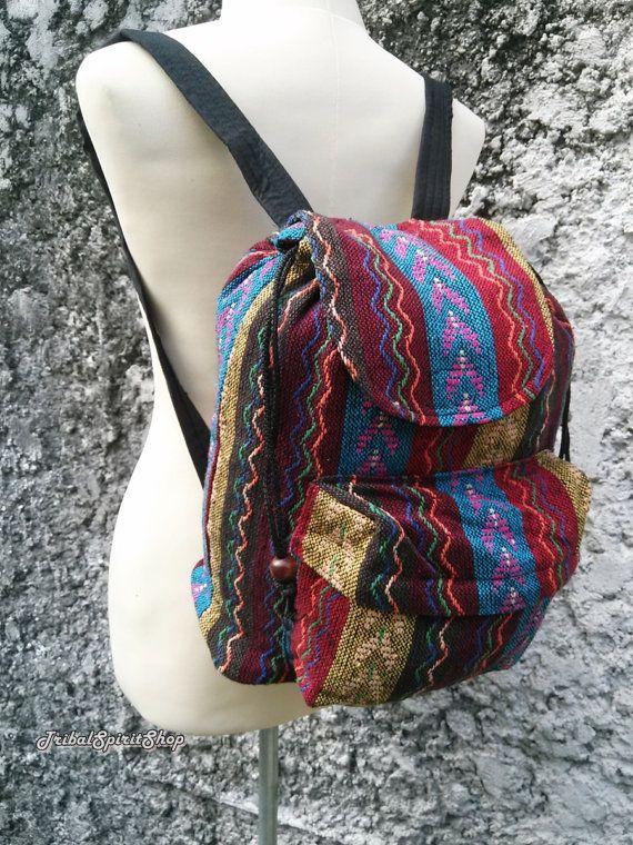 Boho Backpack Ethnic Aztec Printed Tribal Hippies Gypsy Nepali ... bb09c3103e