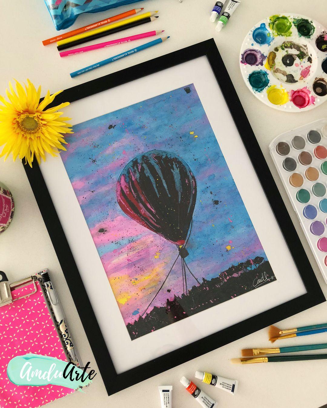 Explosion De Color Dibujo Hecho En Acuarela Y Marcadores Tamano 35 X 45 Cm By Amduarte Dibujos Con Marcadores Arte Inspirador Dibujos