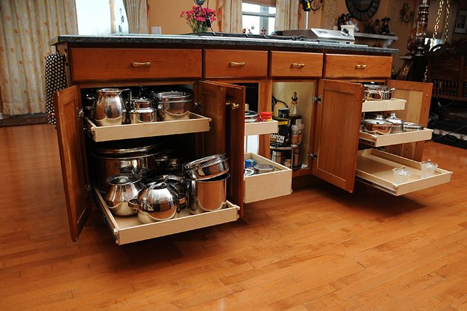 I'd like this in my kitchen island.  Tired of bending over to get things out of the back!