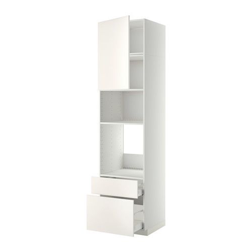 Metod High Cab F Oven Micro W Dr 2 Drwrs White Veddinge White Ikea Ikea Home Accessories Ikea Mobile