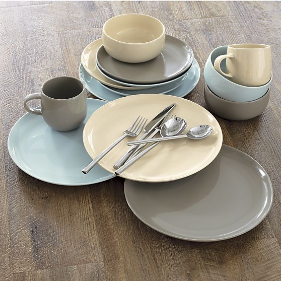 Camden Stone Dinnerware in Dinnerware Sets | Crate and Barrel - 5 colors available - $8.95 : stone dinnerware sets - pezcame.com