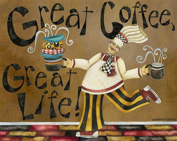 Impresión de arte. Gran Café Gran Vida