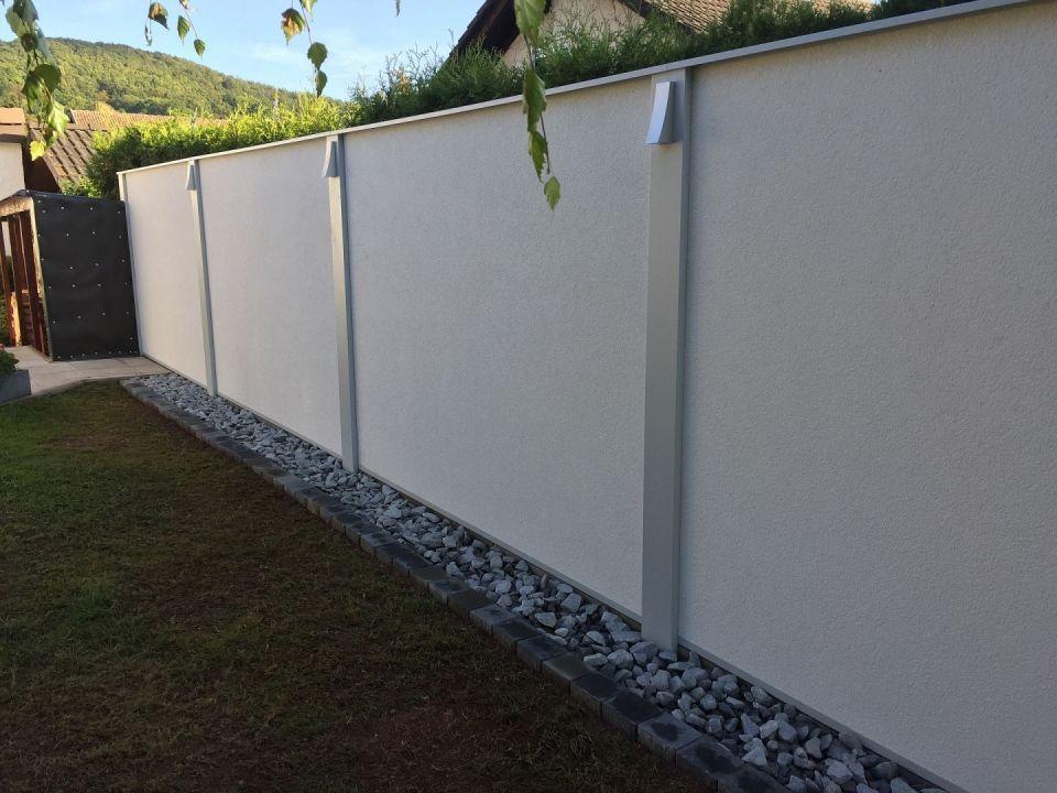 Garten mit Modularem Wandsys9tem als Sichtschutz, Windschutz - garten gestalten vorher nachher