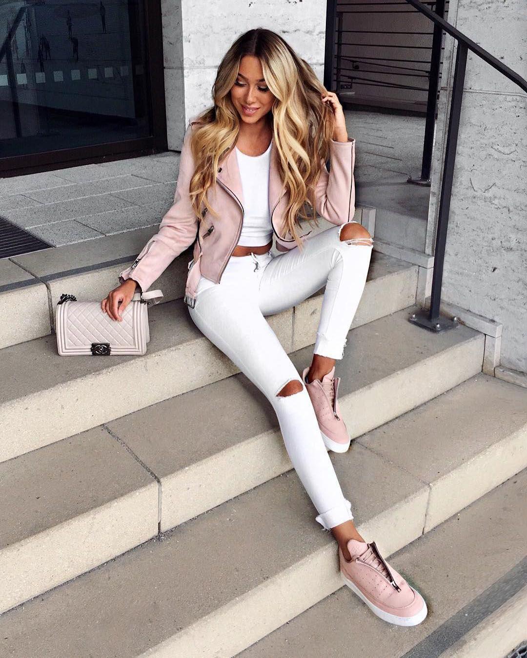 22 ideas (bonitas y elegantes) de Outfit con Pantalón Blanco