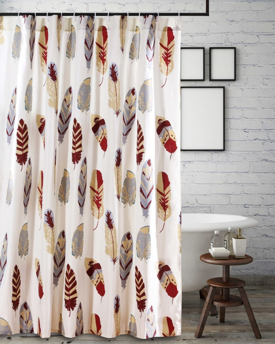 Gold Falling Feathers Shower Curtain Gold Shower Curtain Dream