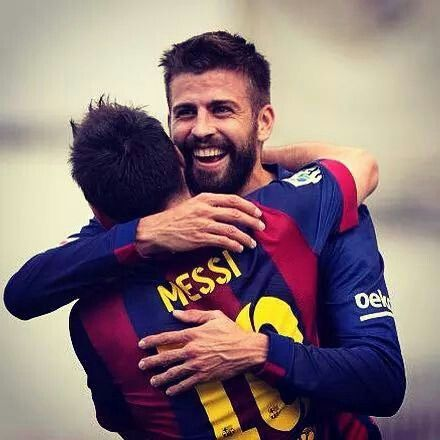 Messi and Pique