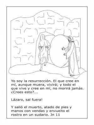 Dibujos Biblicos: La resurrección de Lázaro para colorear ~ Dibujos ...