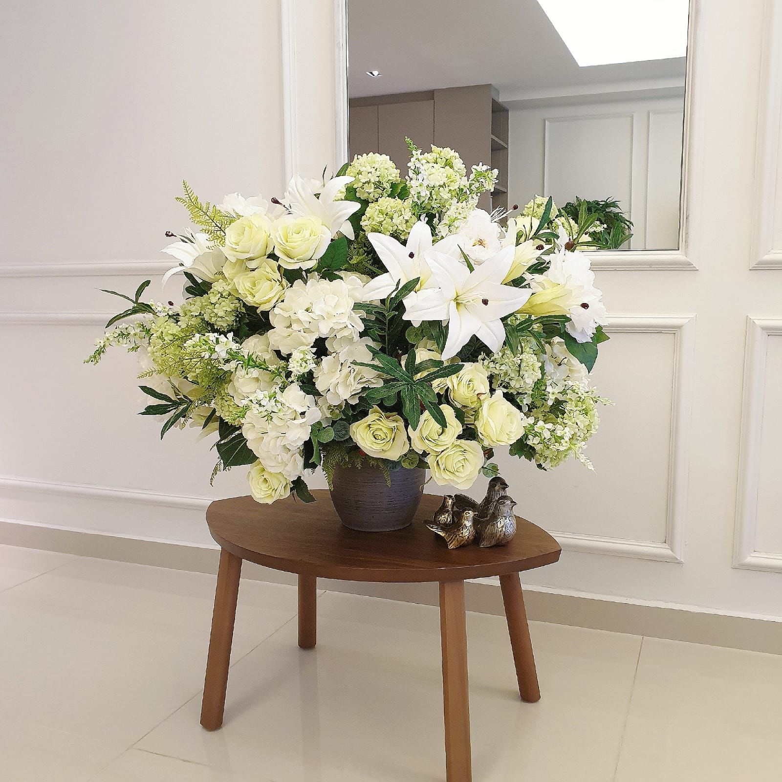 Lilies Roses Eustoma Silkarrangement Bouquet Delivery Floral Arrangements Hydrangea Bouquet