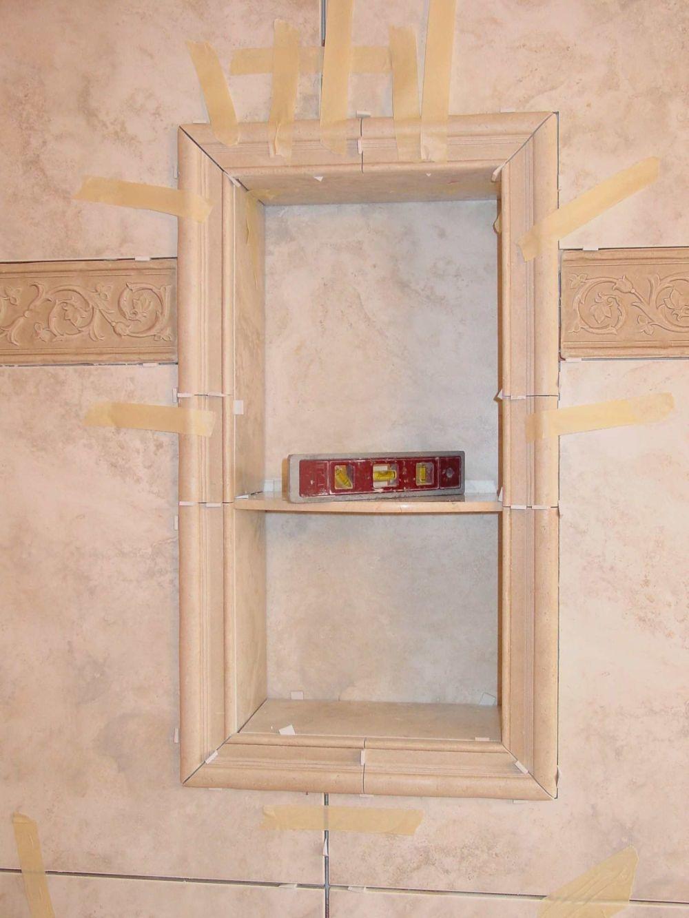 Tile Shower Shampoo Niche Soap Dish And Shampoo Recess Tile Your World Bathroom Ideas