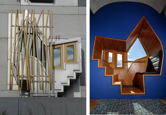 Parlamento Escocés en Edimburgo. Enric Miralles|Espacios en madera
