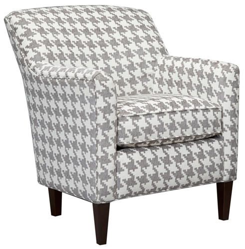 Chloe II Accent Chair is part of Teal Home Accents Basements - The Style Collection Chloe II Accent Chair features slim lines with a tight back  The bold grey and white houndstooth pattern creates quite a statement