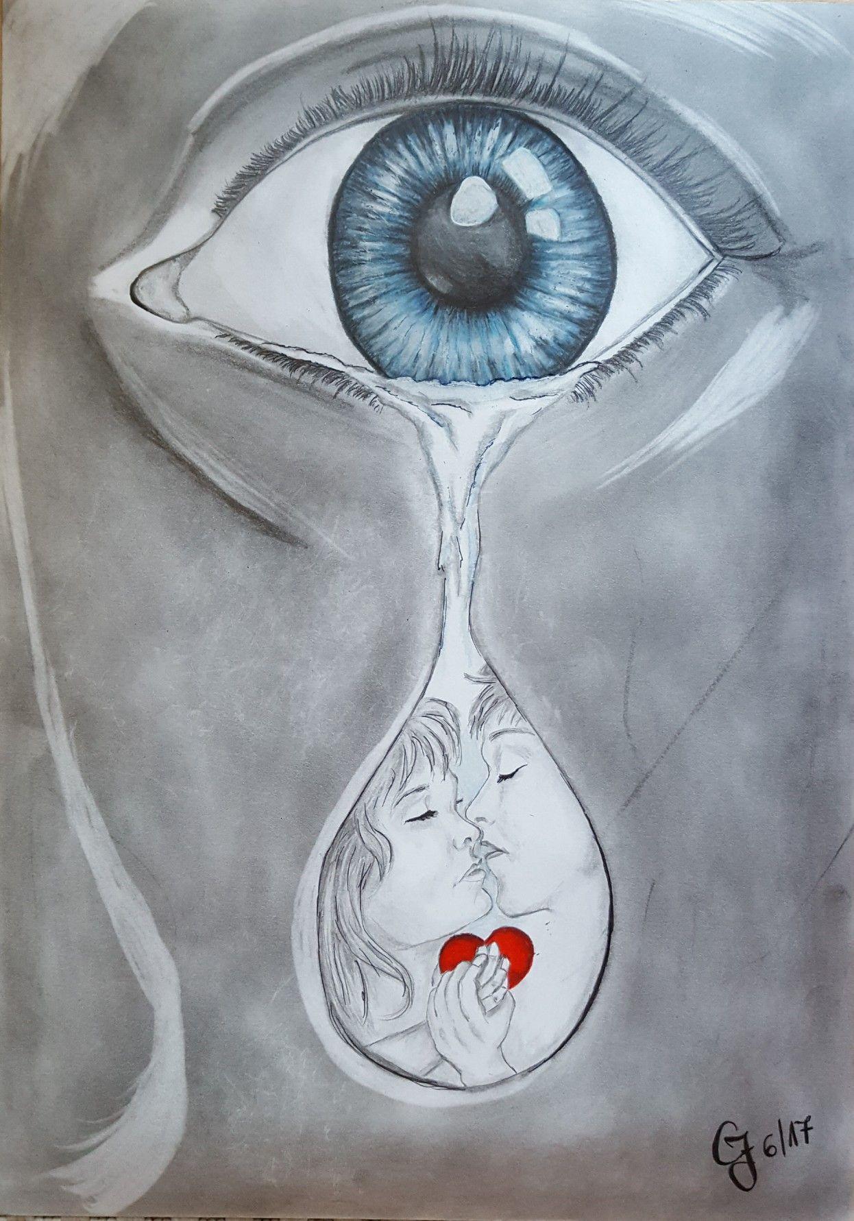 Ich möchte doch nur etwas Liebe | Bleistiftzeichnung Depression ...