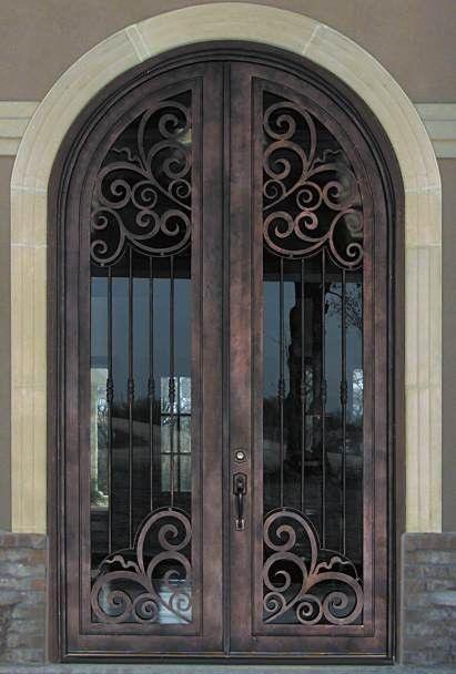 Prime Wrought Iron Double Arched Top Entry Door Door Handles Collection Olytizonderlifede