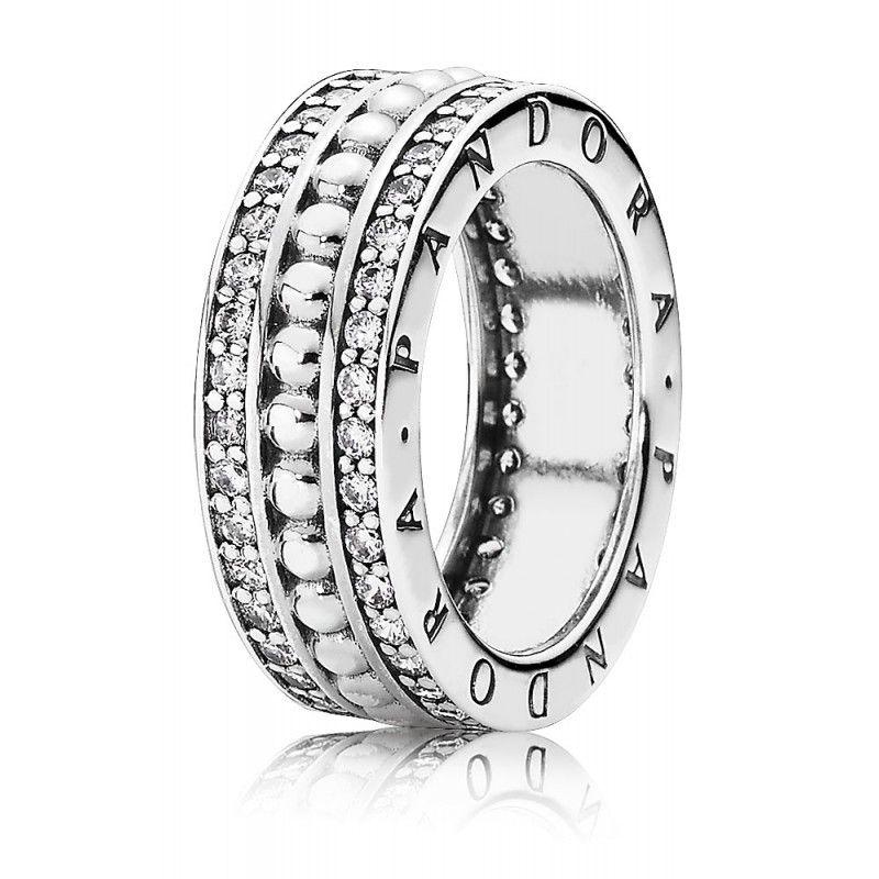 baf0b99e2318 Anillo Pandora Plata Circonitas 190962CZ-54. Anillo realizado en plata de  ley 925 mls adornado con circonitas. La talla Pandora del anillo es la 54