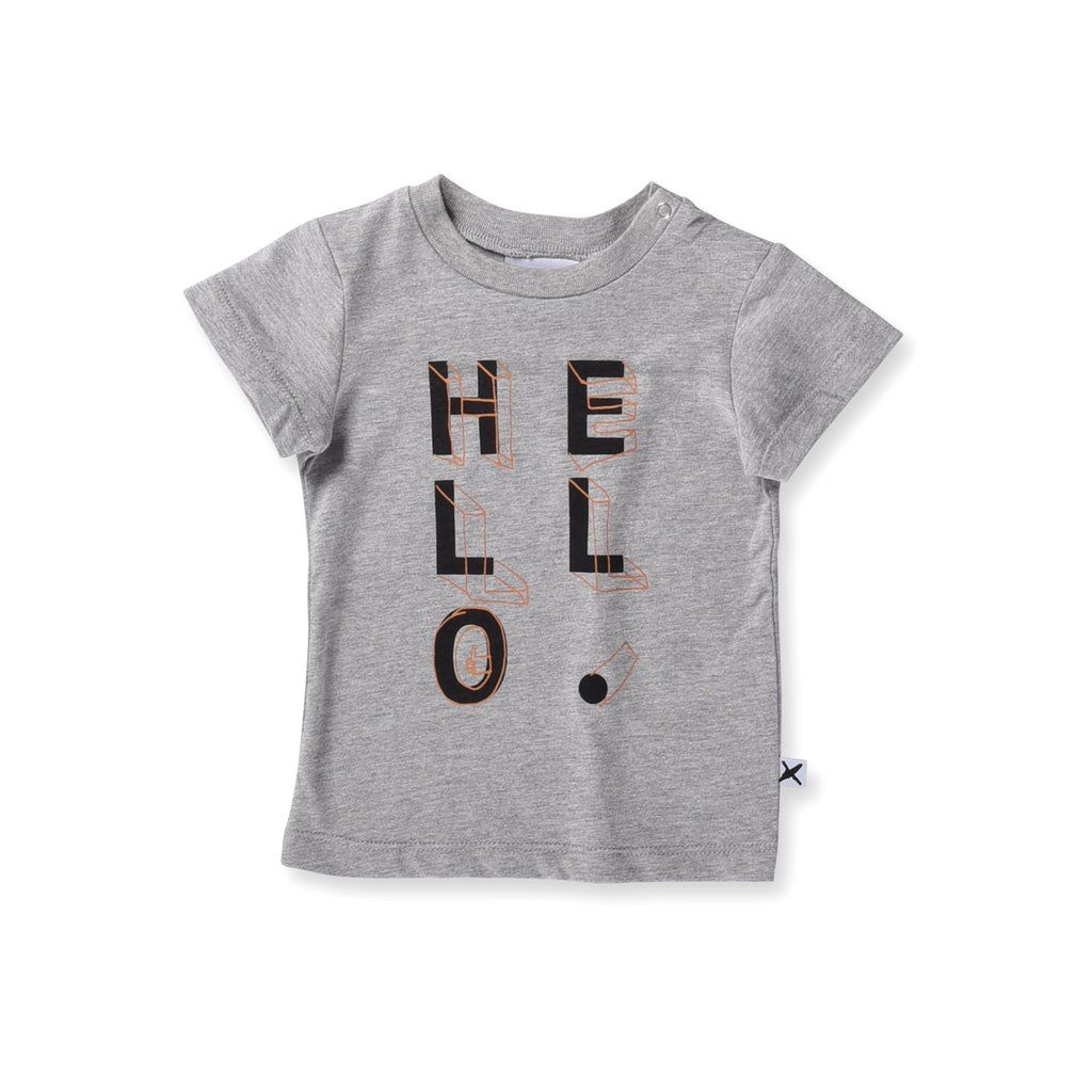 Minti Baby Hello Shapes Tee Tees Funky Kids Jersey Fabric
