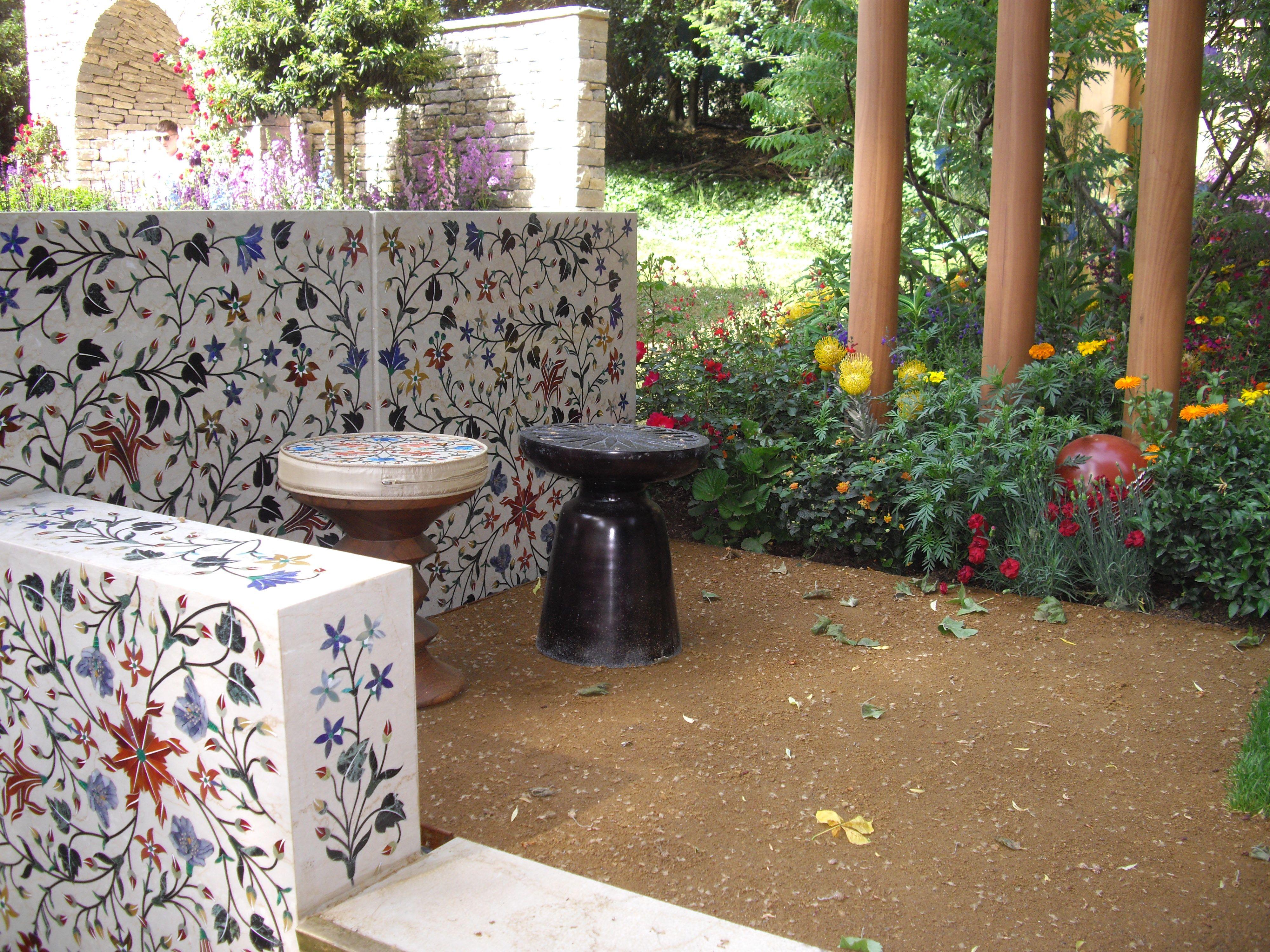 indian artisan garden at the chelsea flower show 2018   the social